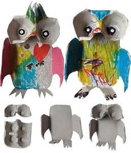 Egg-Carton Owl Craft for Kids