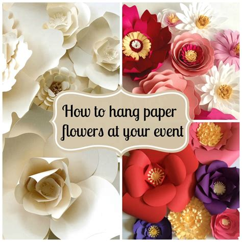 How To Make A Big Paper - tips on how to hang paper flowers for backdrops and photo
