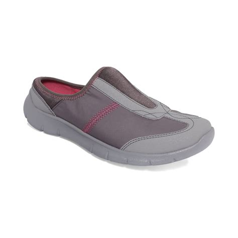 womens grey sneakers clarks womens hedge neenah slip on sneakers in gray lyst
