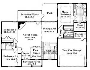 1700 square foot house plans 1700 square 3 bedrooms 2 batrooms 2 parking space