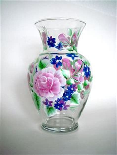 Painted Glass Vases Ideas by 1000 Images About Painted Wine Glasses And More Gift