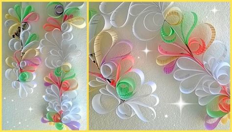 How To Make Hanging Paper Swirls - recycled paper wall decor ideas recycled things image