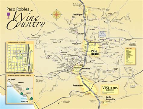 paso robles wine tasting map paso robles daily news