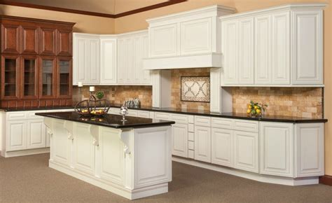 Cambridge Kitchen Cabinets by All Wood Kitchen Cabinets 10x10 Cambridge Antique White