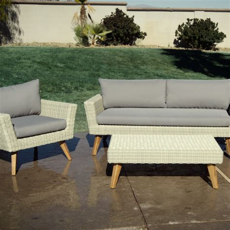 all weather wicker bench all weather wicker marina del ray occasional bench world
