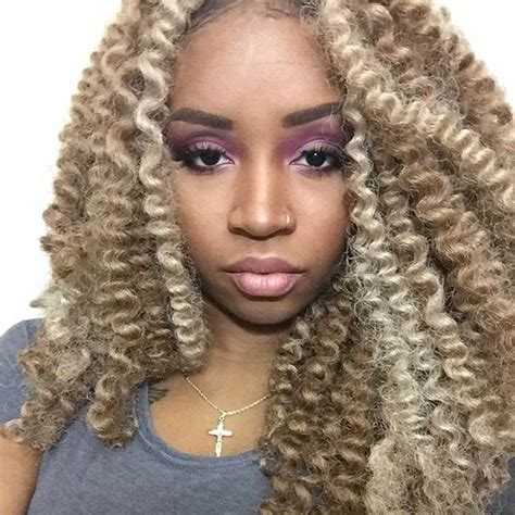 crochet hsir blonde super chic crochet braid styles with human hair