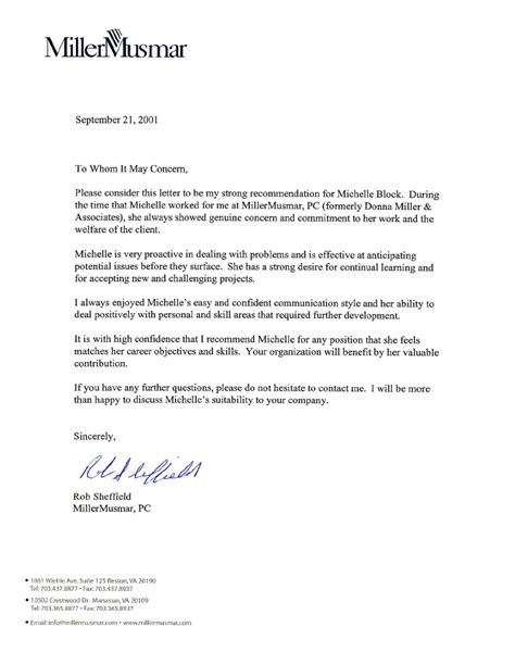 recommendation letter for employment a friend reference sample of