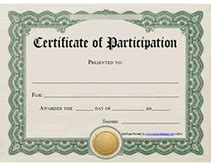 free certificate of participation template certificate of participation awards certificates templates