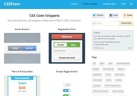 css layout snippets best sites to find css snippets inspiration envato