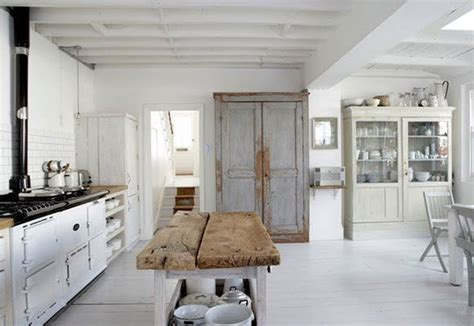 rustic white kitchen living the anthropologie way of life simple vintage