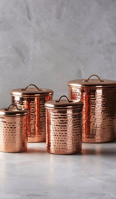 Texture Canister Set anthropologie anthropologie copper plated canisters