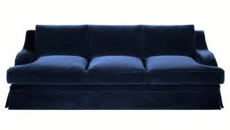 brocante large beautiful navy blue velvet sofa - Navy Blue Velvet Sofa