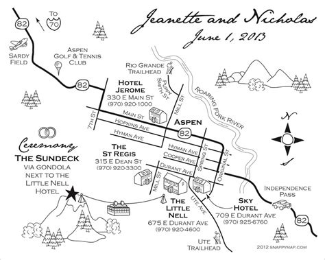 wedding map wedding maps custom map design by snappymap