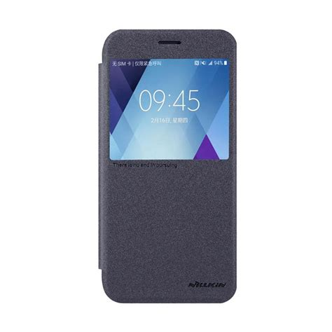 Nillkin Sparkle Leather For Samsung Galaxy A5 A500 Putih jual nillkin original sparkle leather flip cover casing for samsung galaxy a5 2017 black