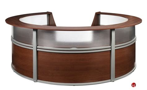 Circular Office Desk The Office Leader Omf 55316 5 Unit Marque Circular Reception Desk Workstation