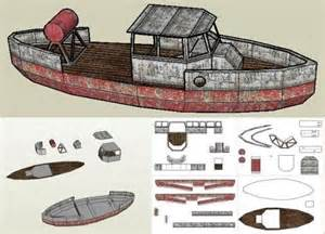 cardboard model boat template bootlegger boat paper model by papermau some advances