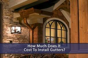 how much does it cost to install gutters eagle restore