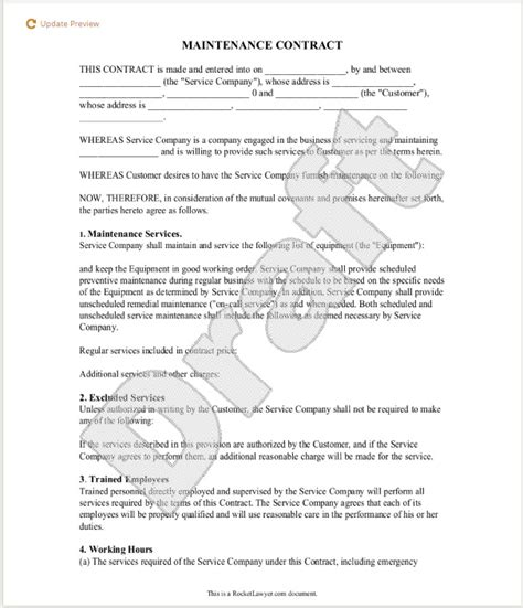Agreement Letter For Repair Maintenance Contract Template Ne0195 Service Equipment Maintenance Agreement Template