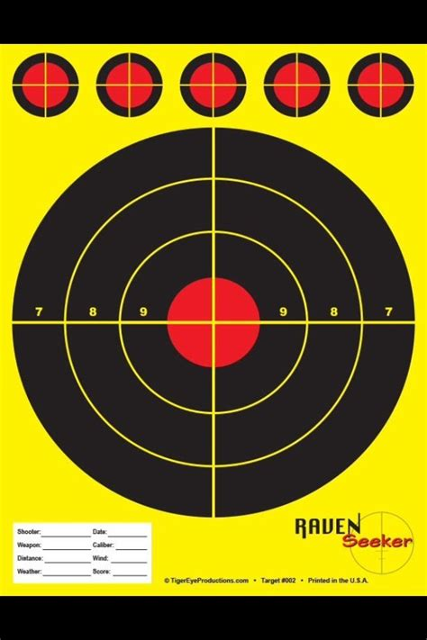 printable shooting targets uk shooting target 50 pack 8x11 perfect for range sniper