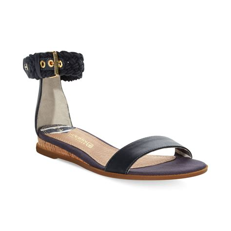 sperry s sandals sperry top sider womens isha ankle flat sandals in
