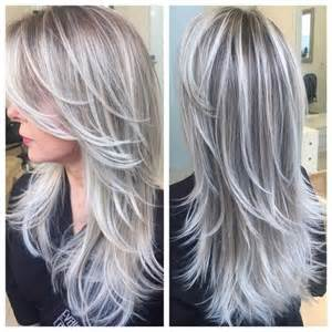 silver hair with lowlights gray hair with brown lowlights google search hair pinterest brown white hair and search