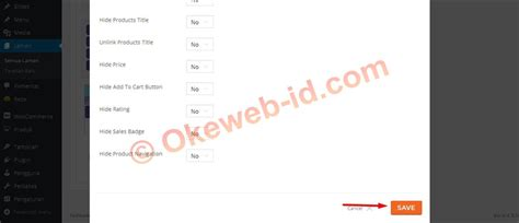 tutorial woocommerce wordpress indonesia cara menilkan semua produk di halaman menu oke web