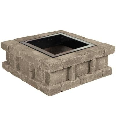 square pit insert home depot pavestone 38 5 in x 14 in rumblestone square pit 2