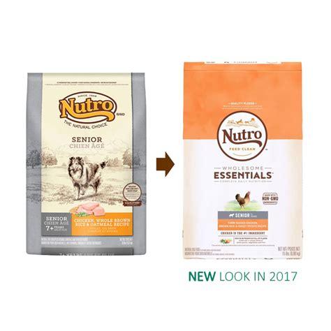 nutro senior food nutro wholesome essentials senior farm raised chicken brown rice sweet potato