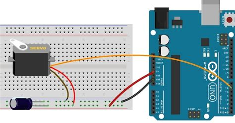 bypass capacitor servo arduino me lesson
