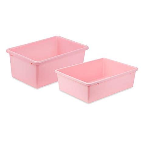 light pink storage cubes honey can do 174 plastic storage bin in light pink bed bath