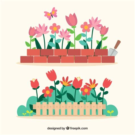 flowers in the garden of flowers in the garden vector free