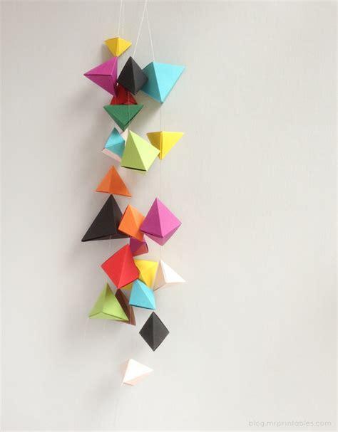 origami bipyramid tutorial       printables
