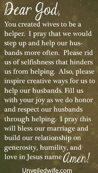 prayer   day helping  spouse