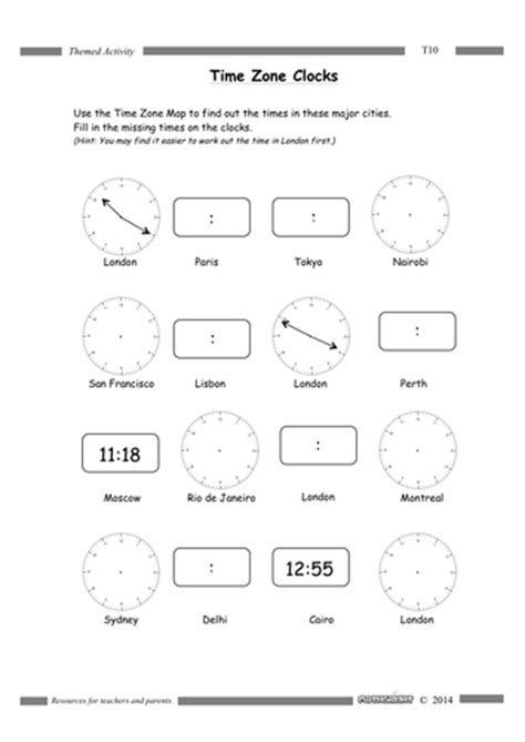 printable time zone worksheets time zones by mathsright teaching resources tes
