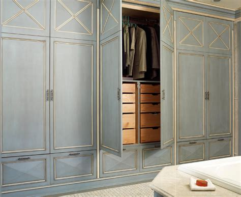 Custom Wall Closets by In This Master Bath A Wall Of Custom Designed Closets And