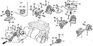 honda store 1993 accord engine mount parts