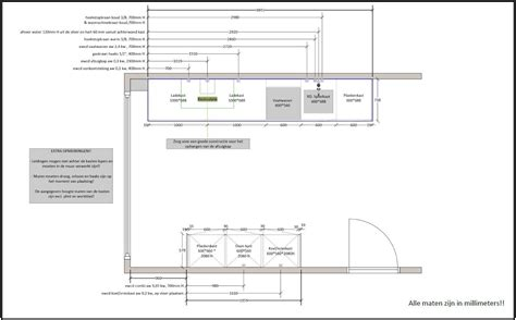 keuken tekening technische tekeningen keukens livingdesign