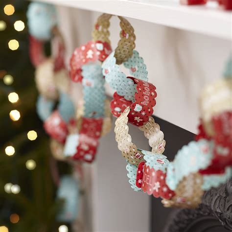 ten metres vintage christmas paper chain decorations by