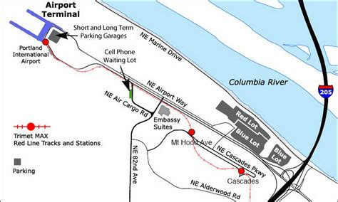 portland airport map airport parking map portland airport parking map jpg