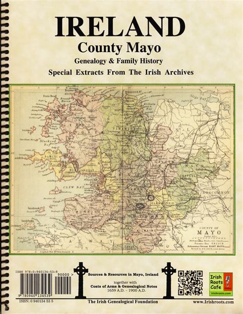 Ireland Birth Records 1800s County Mayo Ireland Map Book Covers