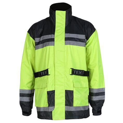 high visibility waterproof cycling hi vis motorcycle waterproof elasticated over jacket
