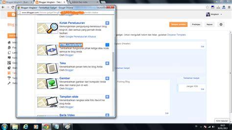 kode kode cara memasukan kode html pada widget blog bloglazir