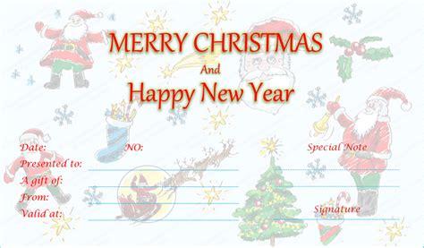 xmas award certificate ideas duel festive gift certificate template