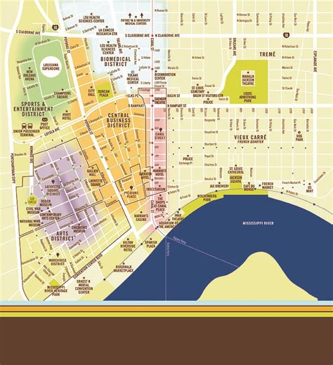 new orleans map downtown map downtown new orleans
