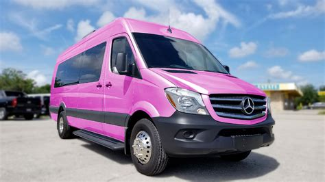 Pink Mercedes Clean Ride Limo