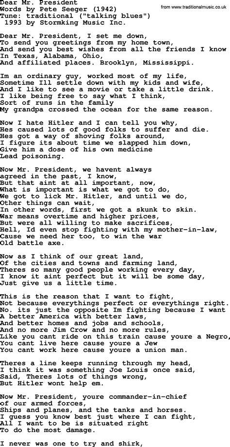 dear lyrics franzi mr president images