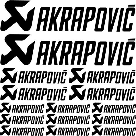 Akrapovic Stickers And Decals