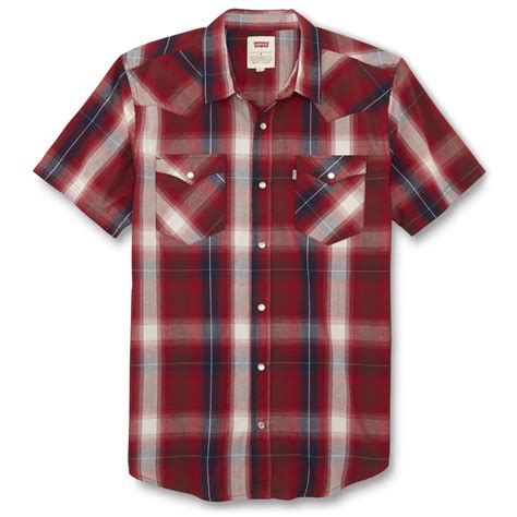 Western Style Shop levi s western style sleeve shirt plaid shop