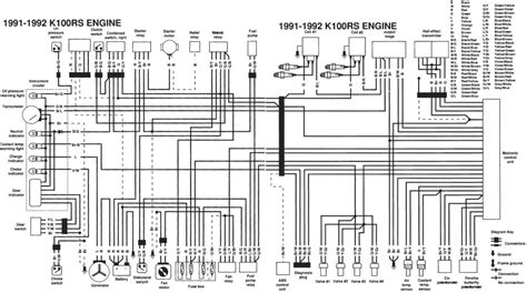 1991 1992 bmw k100rs wiring diagram