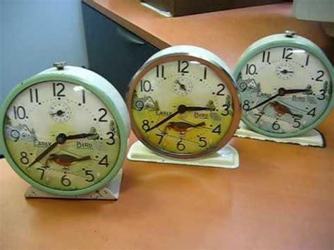 westclox quot early bird quot wind up alarm clocks a flock of three